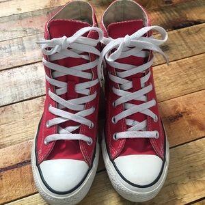 Red High Top Chucks/Converse W 6.5 M 4.5